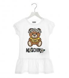 Moschino Little Girls White Teddy Dress