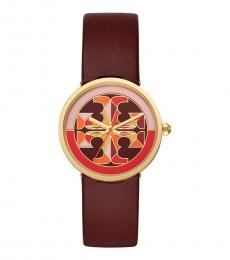 Tory Burch Red Stylish Reva Watch
