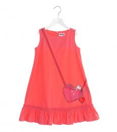 Moschino Little Girls Strawberry Bag Print Dress