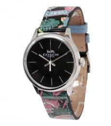 Coach Multi Color Palm Trees Time Piece