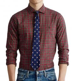 Ralph Lauren Merlot Classic-Fit Plaid Shirt