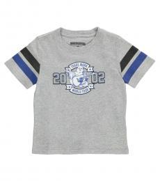 True Religion Little Boys Heather Grey Logo T-Shirt