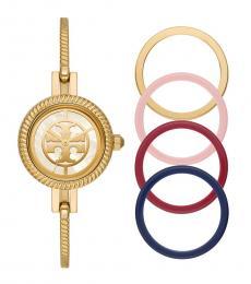 Tory Burch Gold-Multi Reva Bangle Watch