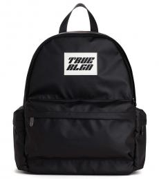 True Religion Black Logo Medium Backpack