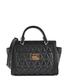 Black Vivianne Mini Satchel