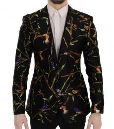 Dolce & Gabbana Black Brid Print Blazer