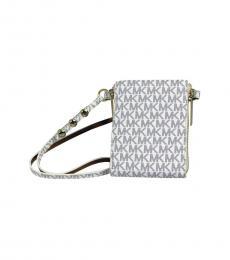 Michael Kors White Navy Logo Fanny Belt Bag
