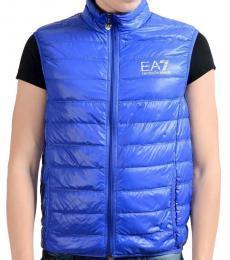 Emporio Armani Blue Duck Down Vest Jacket