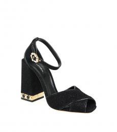 Black Glitter Bette Heels
