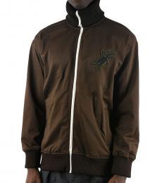 Dark Brown Embroidered Sweatshirt