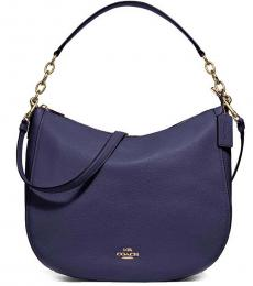 Coach Dark Purple Elle Large Hobo