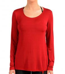 Red Crewneck Long Sleeve Top