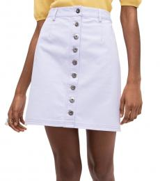 Frozen Lilac Button Front Mini Skirt