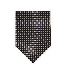 Black Dapper Squares Silk Tie