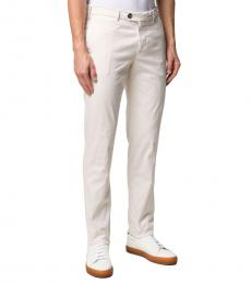 Brunello Cucinelli Off-White Classico Slim Fit Chinos