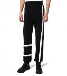 Black Logo Cotton Tracksuit Pants