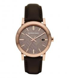 Burberry Brown Leather Watch