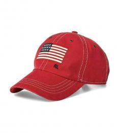 Ralph Lauren Red Flag Baseball Cap