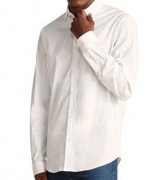 White Back Graphic Print Shirt
