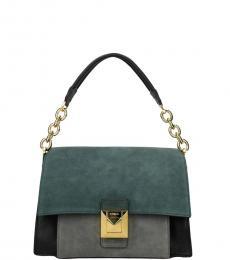 Furla Black/Teal Diva Medium Shoulder Bag