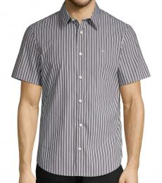 Calvin Klein Black Printed Short-Sleeve Shirt