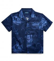 Ralph Lauren Little Boys Blue Sailboat-Print Shirt