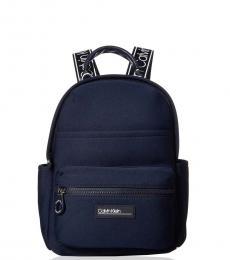 Calvin Klein Blue Vanessa Neoprene Small Backpack