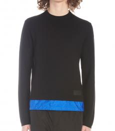 Navy Blue Nylon Insert Sweater
