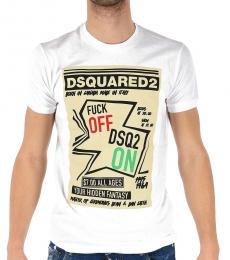 White Logo Print T-Shirt
