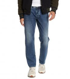Blue Larkee Regular Fit Tapered Leg Jeans