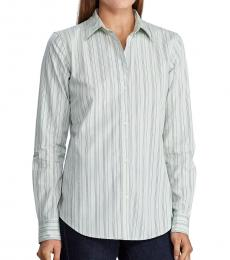 Ralph Lauren Mint Spirit Striped Cotton Shirt