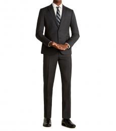 Emporio Armani Dark Grey Two-Piece Wool Suit