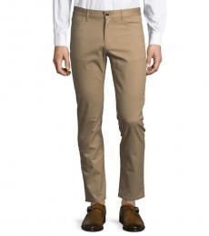 Michael Kors Khaki Parker Slim-Fit Pants