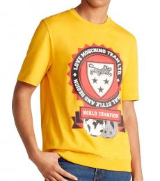 Yellow Crest Ribbed Graphic T-Shirt