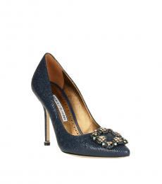 Manolo blahnik Blue Printed Hangisi Heels