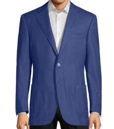 Canali Blue Slim-Fit Two-Button Coat