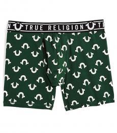 True Religion Dark Green Logo Boxer Brief Underwear