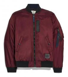 Merlot Nylon Solid Jacket