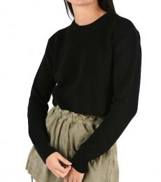 Black Cropped Merly Sweater