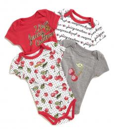 Juicy Couture 4 Piece Short Sleeve Cherry Bodysuits