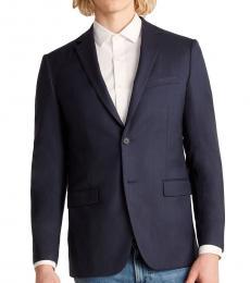 Theory Navy Blue Wellar Wool Blazer