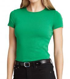 Ralph Lauren Hedge Green Cotton-Blend T-Shirt
