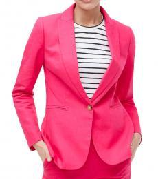 Pink Linen-Cotton Holland Blazer