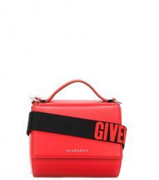 Givenchy Red Pandoral Box Small Crossbody