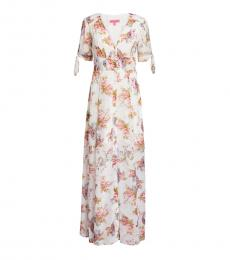 Betsey Johnson Multi-Tie-Sleeve Floral Maxi Dress