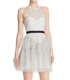 Off White Polka Dot Halter Dress