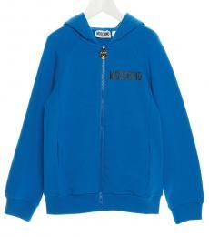 Moschino Boys Blue Teddy Hoodie