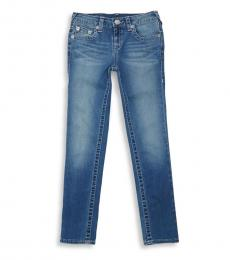 True Religion Girls Blue Freckle Wash Jeans