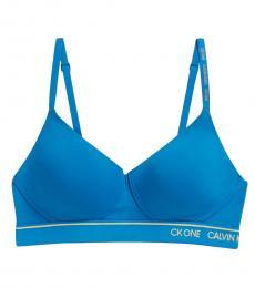 Calvin Klein Blue Lightly Lined Bralette