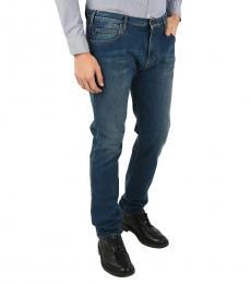 Armani Jeans Blue Stretch Slim Fit Jeans